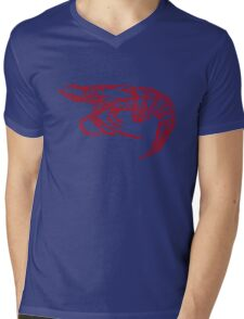 Red shrimp Mens V-Neck T-Shirt