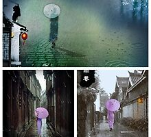 collage for the poem-雨巷..... by LisaBeth
