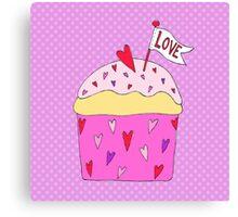 Cupcake Love Canvas Print