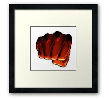 One Punch Man Fist Framed Print