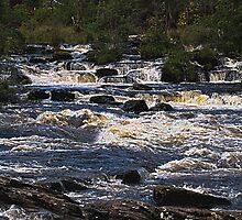 Dochart Falls - Scotland Nr. Killin by Glen Allen