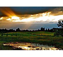 Sun breaks Through, Alberta Photographic Print