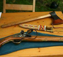 flintlock pistol and tomahawk by wolf6249107