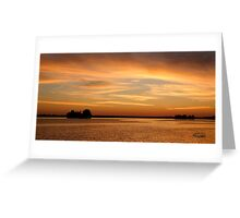 Big Sunset, Big Rideau Lake Greeting Card