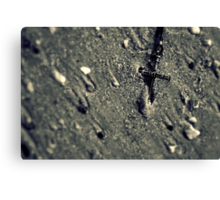 Cross in the Sand Canvas Print
