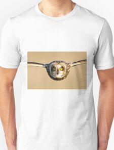 Short-eared Owl flying towards Camera T-Shirt