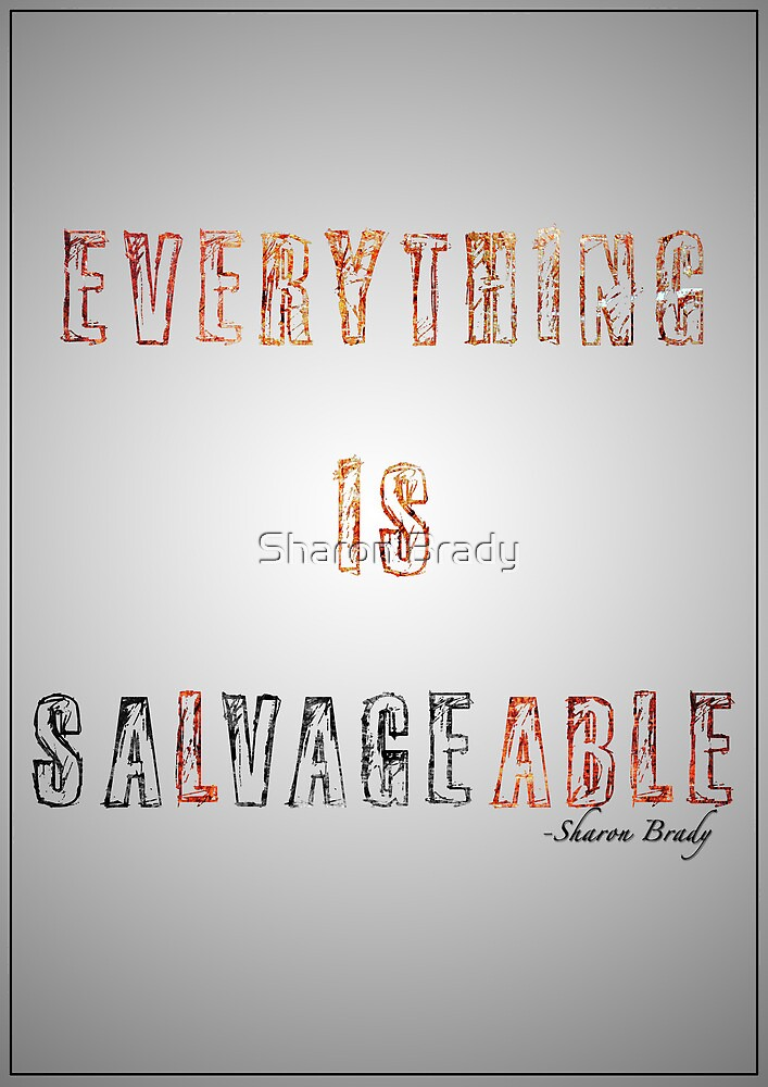 Everything is Salvageable by Sharon Brady