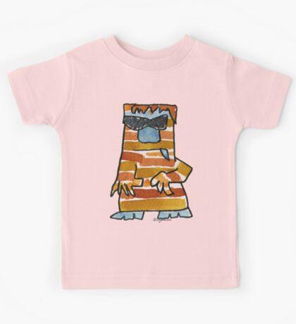 Funny Cartoon Monstar Monster 016 Kids Tee