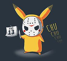 PIKA CHU JASON MASK FRIDAY THE 13TH HALLOWEEN  by SourKid