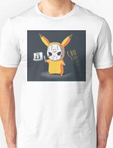 PIKA CHU JASON MASK FRIDAY THE 13TH HALLOWEEN  T-Shirt