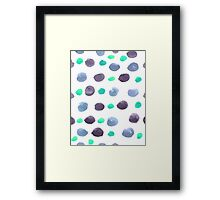 Hand drawn water color pattern background  Framed Print
