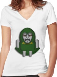 DoomDROID Women's Fitted V-Neck T-Shirt