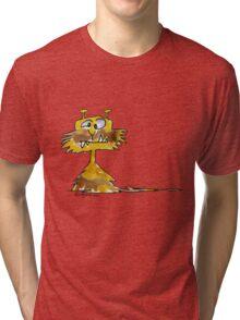 Funny Cartoon Monstar 023 Tri-blend T-Shirt