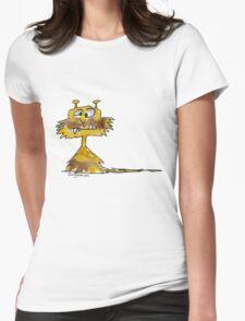 Funny Cartoon Monstar 023 Womens Fitted T-Shirt