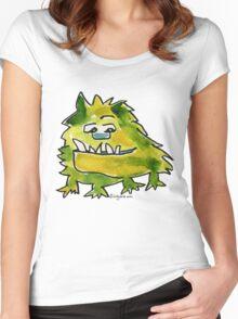 Funny Cartoon Monstar 026 Women's Fitted Scoop T-Shirt