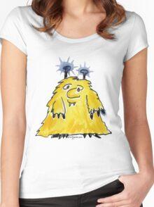 Funny Cartoon Monstar 029 Women's Fitted Scoop T-Shirt