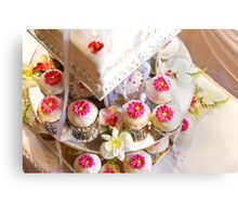 Wedding Cup Cakes Canvas Print