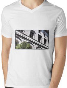 Old Savannah Post Office Mens V-Neck T-Shirt