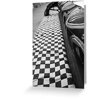 Checkered Flag Greeting Card