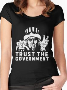 Trust Government Zombie Uncle Sam Women's Fitted Scoop T-Shirt