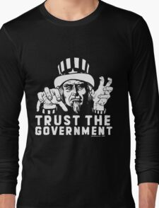 Trust Government Zombie Uncle Sam Long Sleeve T-Shirt