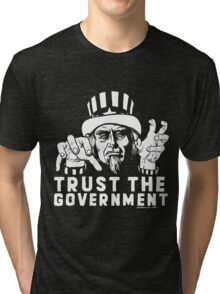 Trust Government Zombie Uncle Sam Tri-blend T-Shirt
