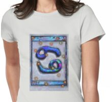 Cancer Astrology Symbol Womens Fitted T-Shirt