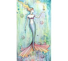 """Bubbles"" Mermaid Art by Molly Harrison Photographic Print"
