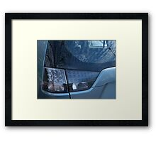 Auto Abstract - Blue Framed Print