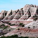 Layers Upon Layers of Time (Ages, Epochs, Periods, Eras & Eons) - Badlands National Park, SD by Rebel Kreklow