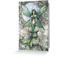 """From Sea to Sky"" Mermaid Fairy Art by Molly Harrison Greeting Card"
