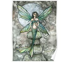 """From Sea to Sky"" Mermaid Fairy Art by Molly Harrison Poster"