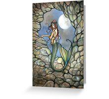 """Hidden Cavern"" Mermaid Art by Molly Harrison Greeting Card"