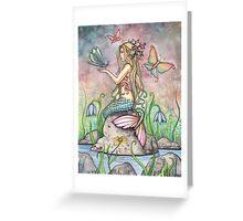"""Creekside Magic"" Mermaid Art by Molly Harrison Greeting Card"