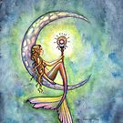 """Mermaid Moon"" Mermaid Art by Molly Harrison by Molly  Harrison"