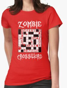 Zombie Crossword Womens Fitted T-Shirt