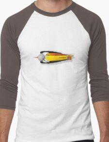 vintage rocket ship Men's Baseball ¾ T-Shirt