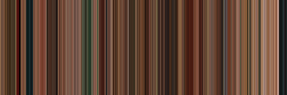 Moviebarcode: Machete (2010) [Simplified Colors] by moviebarcode