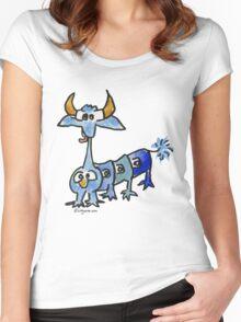 Funny Cartoon Monstar 033 Women's Fitted Scoop T-Shirt