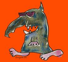 Funny Cartoon Monstar 036 Kids Tee