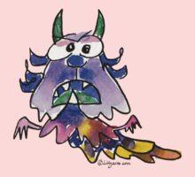 Funny Cartoon Monstar 037 Kids Tee