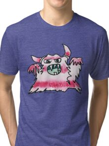 Funny Cartoon Monstar Monster 038 Tri-blend T-Shirt