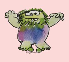 Funny Cartoon Monstar 042 Kids Tee
