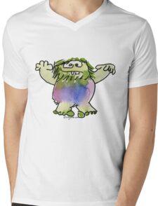 Funny Cartoon Monstar 042 Mens V-Neck T-Shirt