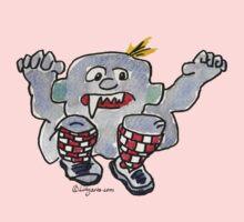 Funny Cartoon Monstar 043 Kids Tee