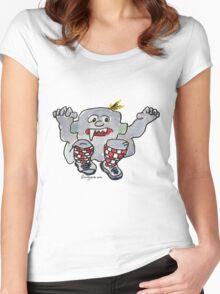 Funny Cartoon Monstar 043 Women's Fitted Scoop T-Shirt