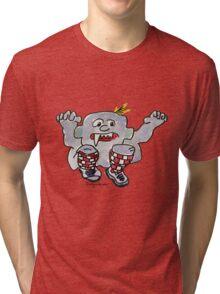 Funny Cartoon Monstar 043 Tri-blend T-Shirt