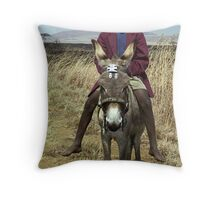 Boy on a Donkey - Dundee, South Africa Throw Pillow