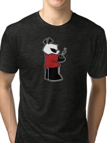 Pissed OFF Panda Smoking Basic Tri-blend T-Shirt