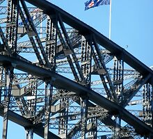 Two Flags,Sydney Harbour Bridge,Australia. by kaysharp